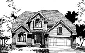 Traditional House Plan 68000 Elevation