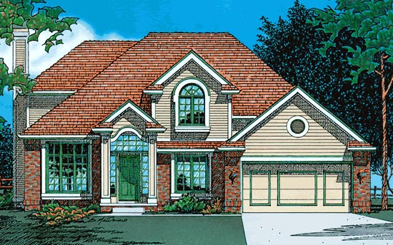 European House Plan 68006 Elevation