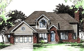 European House Plan 68015 Elevation