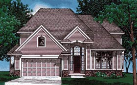 European Traditional House Plan 68016 Elevation
