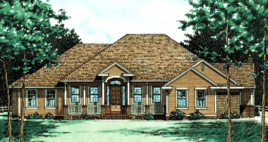 Traditional House Plan 68026 Elevation