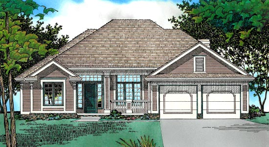 Traditional House Plan 68027 Elevation