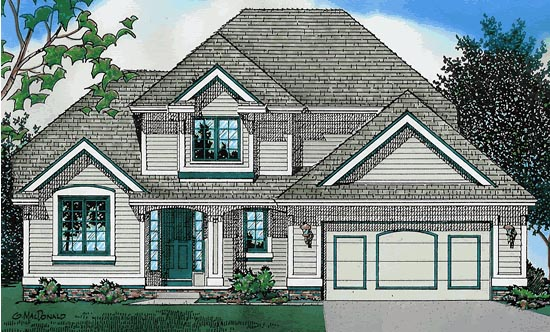 Traditional House Plan 68030 Elevation
