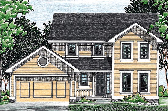 Country House Plan 68031 Elevation
