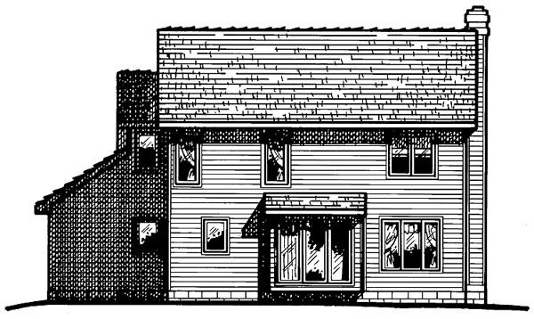 Country Southern House Plan 68032 Rear Elevation