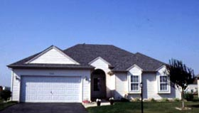 Traditional House Plan 68033 with 3 Beds, 3 Baths, 2 Car Garage Elevation
