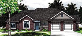 Traditional House Plan 68034 Elevation