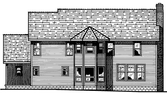 Colonial Southern Traditional House Plan 68037 Rear Elevation