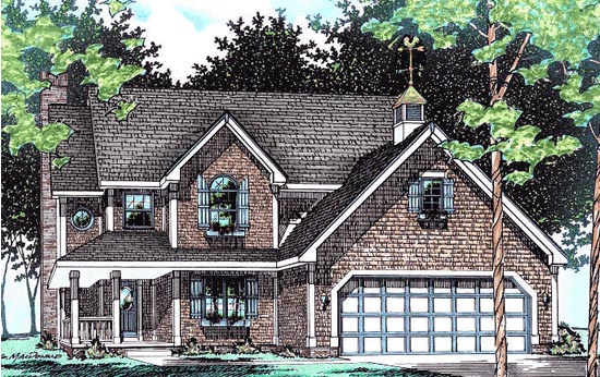 Country Traditional House Plan 68044 Elevation