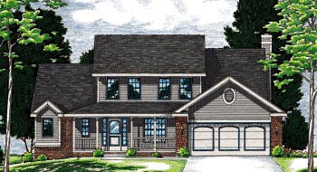 Country Farmhouse House Plan 68051 Elevation