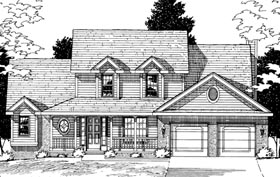 Country Farmhouse House Plan 68052 Elevation