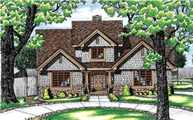 Traditional House Plan 68055 Elevation