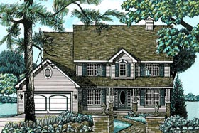 Colonial Traditional House Plan 68057 Elevation