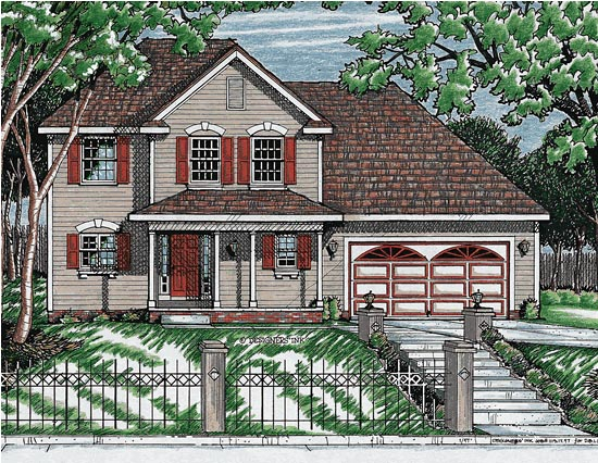 Country Farmhouse Southern House Plan 68059 Elevation