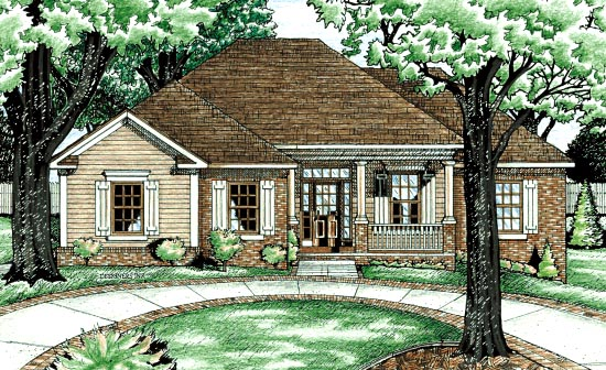 Traditional House Plan 68060 Elevation