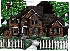 House Plan 68063 | Colonial Southern Style Plan with 2475 Sq Ft, 3 Bedrooms, 3 Bathrooms, 2 Car Garage Elevation