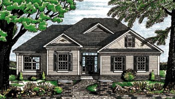 Traditional House Plan 68064 Elevation