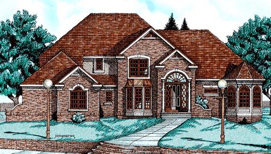 European House Plan 68069 Elevation