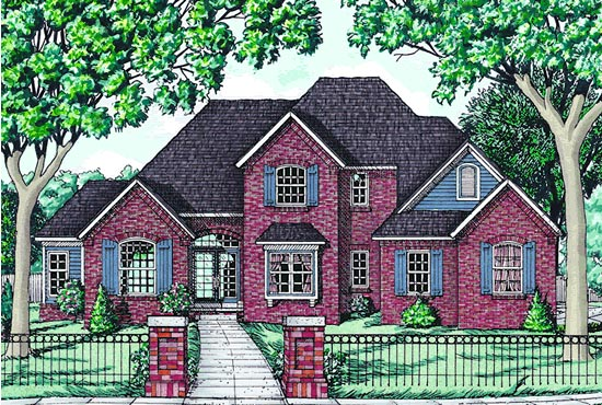 Traditional House Plan 68070 Elevation