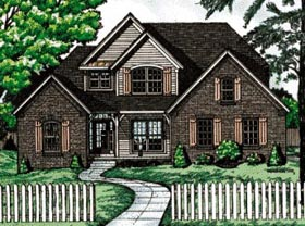 Traditional House Plan 68071 Elevation