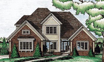 Traditional House Plan 68072 Elevation