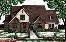 Traditional Tudor House Plan 68082 Elevation