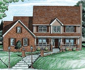 Country House Plan 68083 Elevation