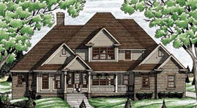 Traditional House Plan 68084 Elevation
