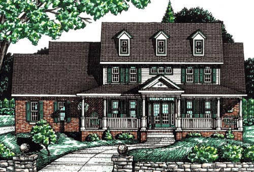 Country Farmhouse Southern House Plan 68086 Elevation