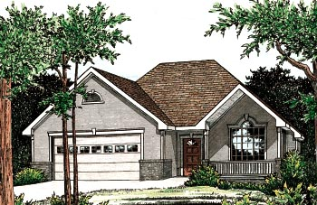 Traditional House Plan 68087 Elevation