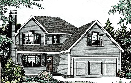 Traditional House Plan 68088 Elevation