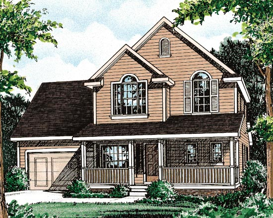 Country House Plan 68089 with 3 Beds , 3 Baths Elevation
