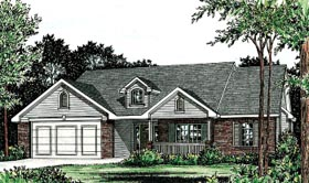 Country Traditional House Plan 68092 Elevation