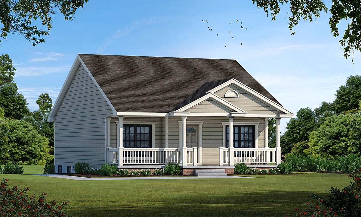 Bungalow , Country , Traditional , Elevation of Plan 68093