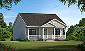 Plan Number 68093 - 1142 Square Feet