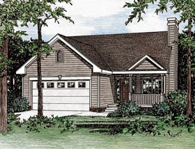 Plan Number 68096 - 1311 Square Feet