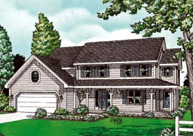 Colonial Country Southern House Plan 68103 Elevation