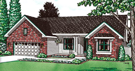 Ranch Traditional House Plan 68104 Elevation