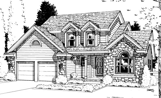 Country House Plan 68105 Elevation