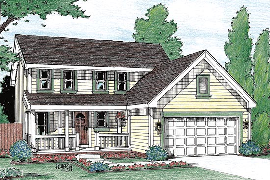 Colonial Country Southern House Plan 68108 Elevation