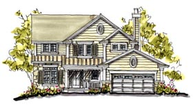 Country Traditional House Plan 68113 Elevation