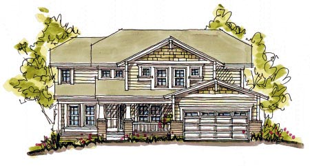 Bungalow House Plan 68118 Elevation