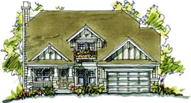 Bungalow , Country , Southern House Plan 68119 with 4 Beds, 4 Baths Elevation