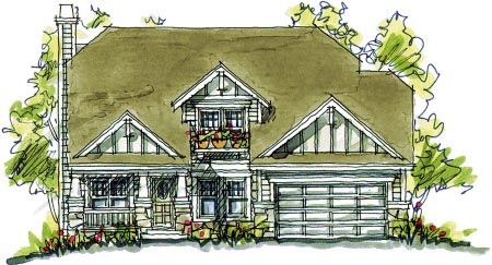 Bungalow Country Southern House Plan 68119 Elevation