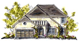 House Plan 68121 | Country European Style Plan with 2593 Sq Ft, 5 Bedrooms, 3 Bathrooms, 2 Car Garage Elevation