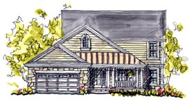 Bungalow Country Southern House Plan 68122 Elevation