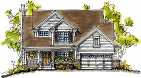 Bungalow Country House Plan 68123 Elevation