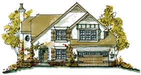 Bungalow Country Tudor House Plan 68124 Elevation