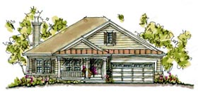Country House Plan 68125 Elevation