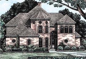 European Victorian House Plan 68127 Elevation